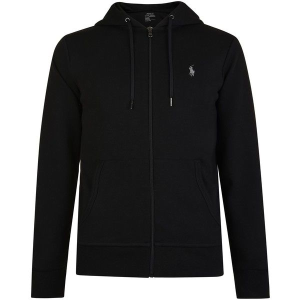 POLO RALPH LAUREN Zipped Logo Hooded Sweatshirt (210 AUD) ❤ liked on Polyvore featuring tops, hoodies, zipper hoodie, zipper top, zip hoodie, long sleeve hooded sweatshirt and polo ralph lauren hoodie