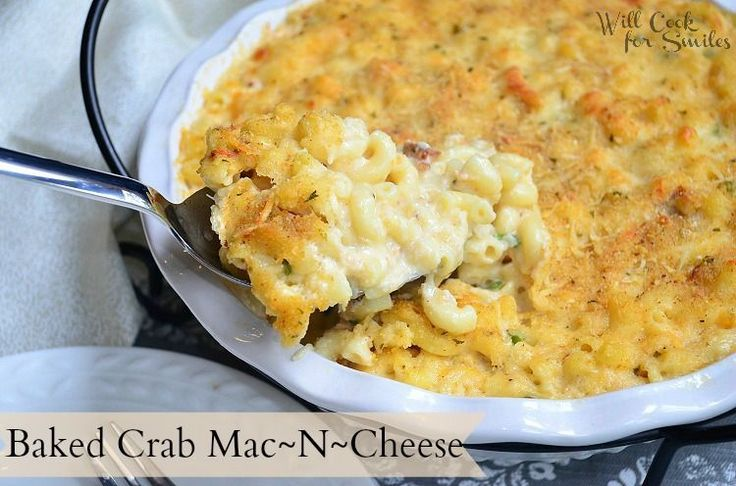 Baked Crab Mac and Cheese. Try this recipe using Sargento® Natural Shredded Parmesan Cheese!
