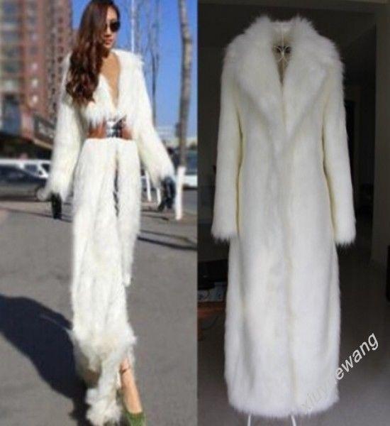 fashion womens full long faux fur coat slim fit sexy lady warm outwerear parka #Unbranded #Parka