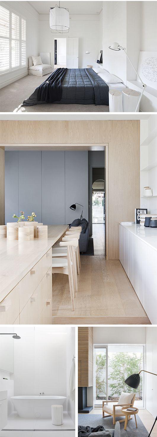 Wood, White, + Charcoal