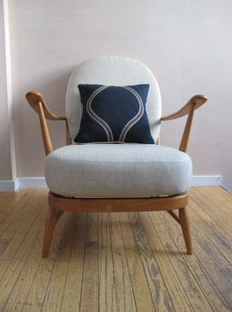 Gorgeous 60s Ercol chair. Sadly sold!  https://noahxnw.tumblr.com/post/160768980941/hairstyle-ideas
