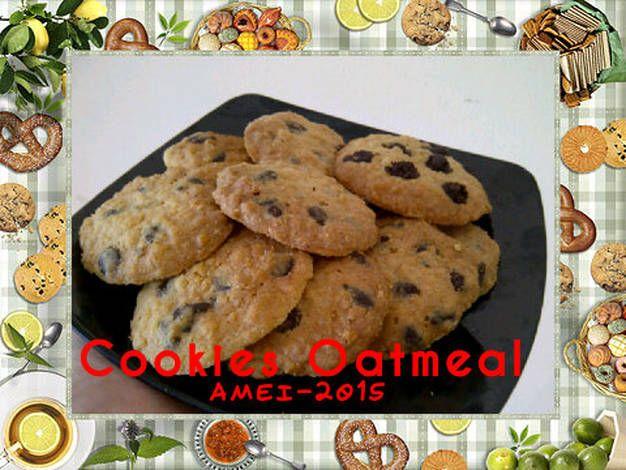 Cookies oatmeal yang crunchy dan enak banget