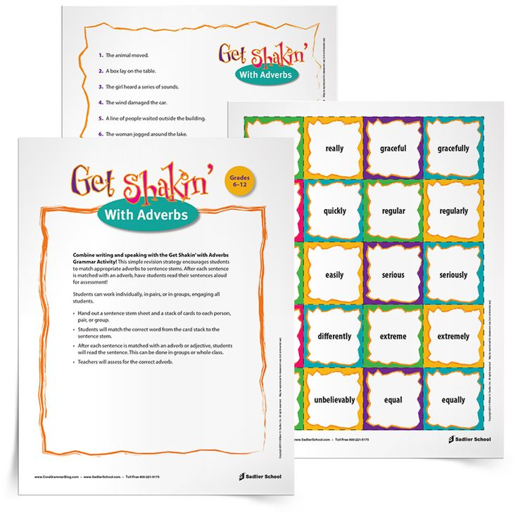84 best grammar writing reproducibles from sadlier school images my get shakin with adverbs grammar exercise is a fun revision activity that encourages students to match appropriate adverbs to sentence stems fandeluxe Choice Image