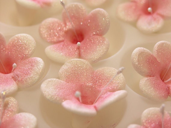 CHERRY BLOSSOMS / Gum Paste Flowers / 24 Edible by lenabender48, $21.95