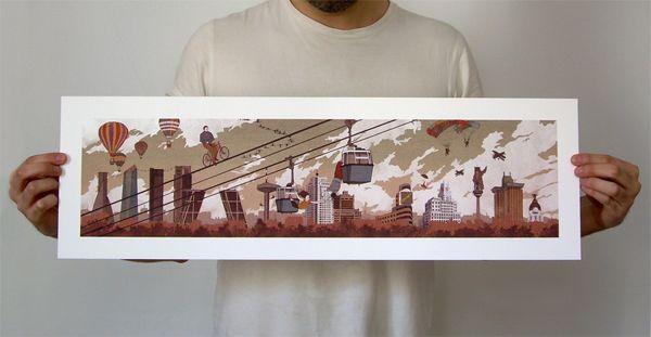 Madrid Skyline Header by Nader Sharaf, via Behance
