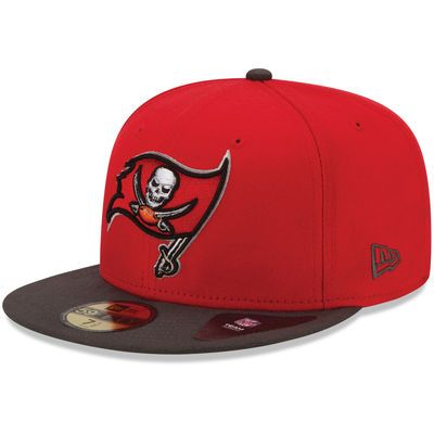 New Era Tampa Bay Buccaneers Red/Black Two-Toned 59FIFTY Fitted Hat