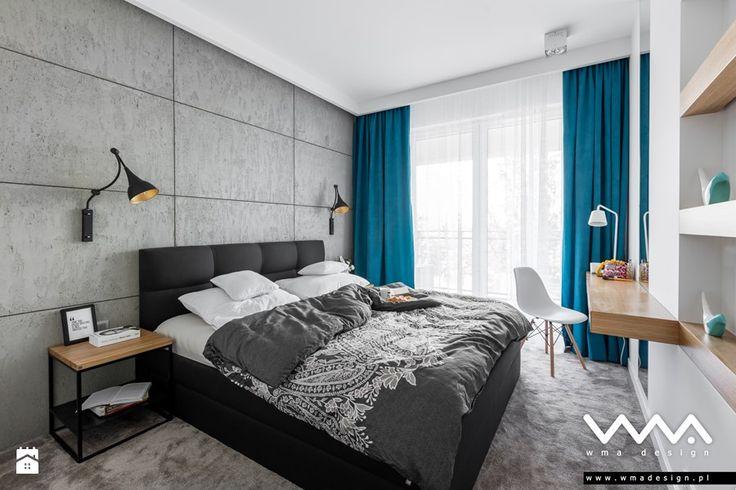 sypialnia z betonem - zdjęcie od WMA Design