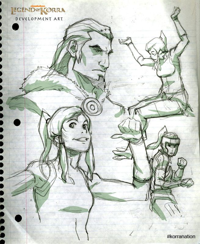 29 best the legend of korra concept art images on pinterest avatar joaquim drew that korranation a collection of character sketches from a production meeting including korra and a shot of her father voltagebd Image collections