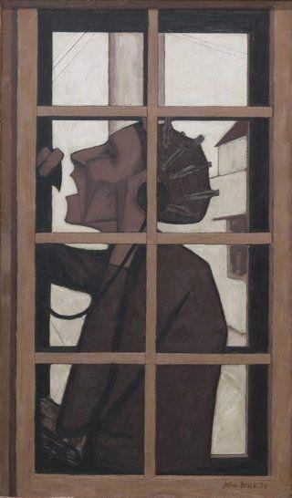 AGNSW collection John Brack The telephone box (1954) 513.2010