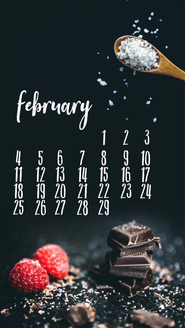 Smartphone wallpaper background February 2019 calendar