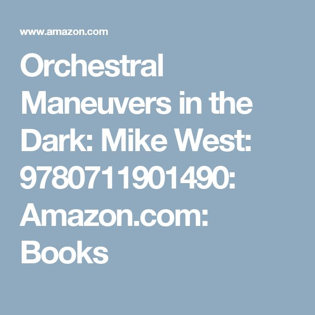 62 best amazon wish list to buy cheap images on pinterest stuff orchestral maneuvers in the dark mike west 9780711901490 amazon books fandeluxe Choice Image