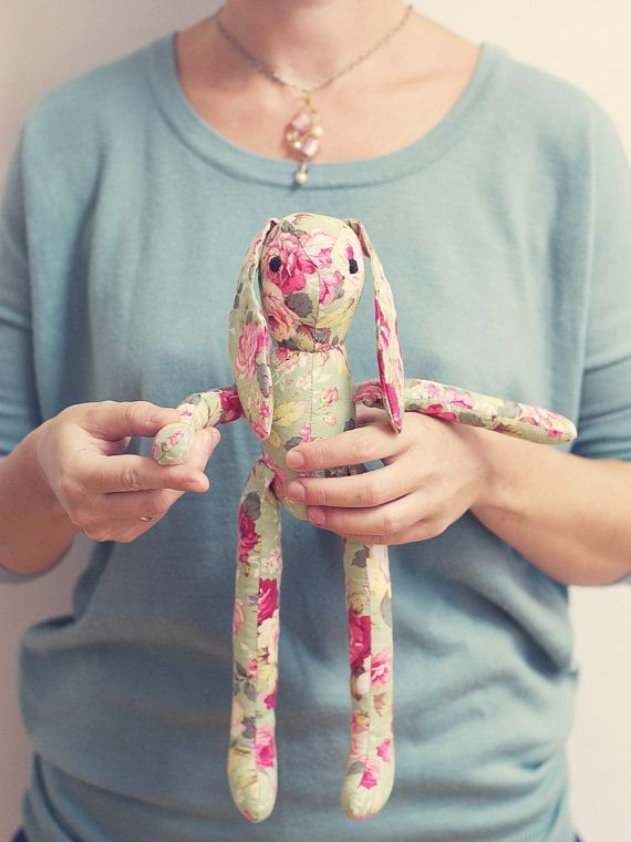 Softie Floral Handmade Bunny Toy