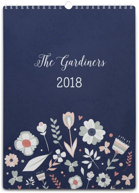 If you're after a handier way of getting organised than writing notes on the back of your hand, why not try a Tinyme family planner for 2018. Our personalised calendars are a cute and hassle-free way of getting your family calendar sorted, and you won't have to worry about your notes washing off in the shower! Column Layout: Space for up to 6 columns - add one for each family member, add an extra for birthdays... The choice is yours! Details: • Every page is full colour and personal...