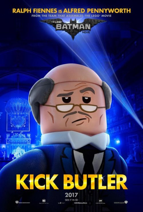 'The Lego Batman Movie' Alfred Poster