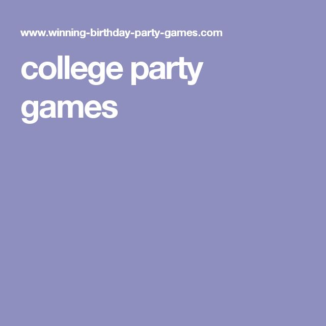 college party games