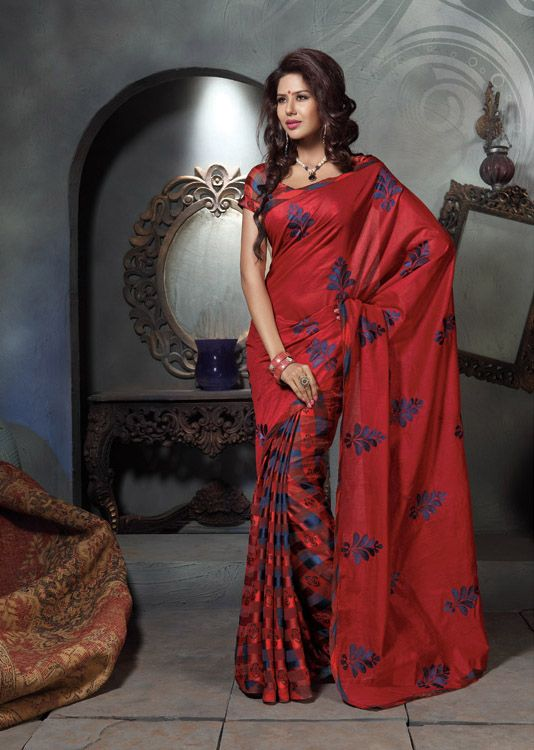 Red #Designer #Saree Online For More Saree Check this page now :-http://www.ethnicwholesaler.com/sarees-saris