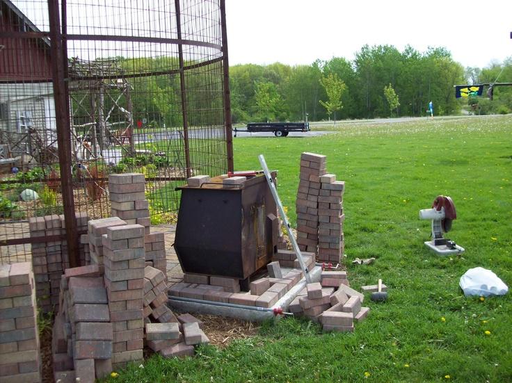 Gazebo Pic 5 Starting Fireplace Garden Misc Pinterest
