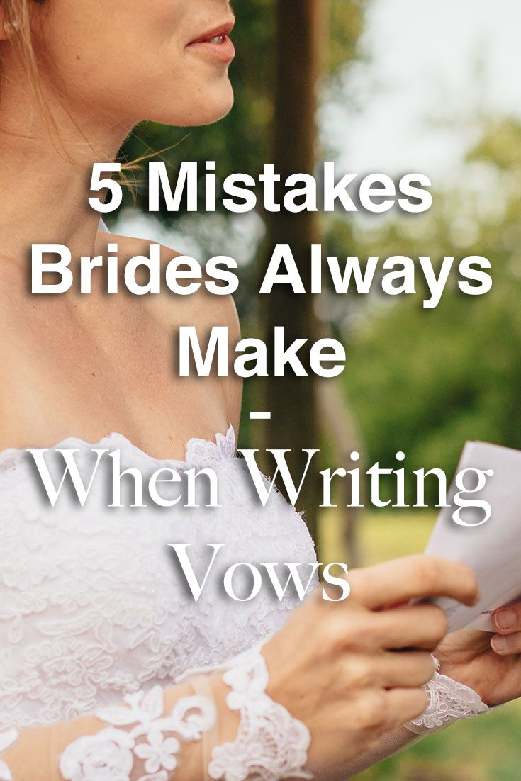 5 Mistakes Brides Always Make When Planning Their Vows Party