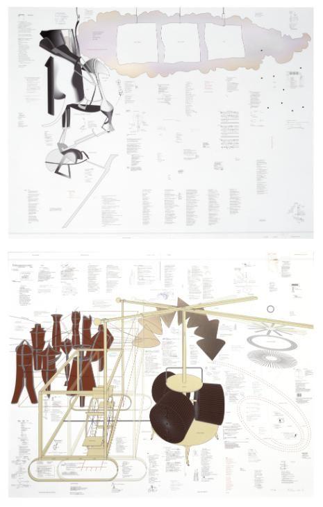 Richard Hamilton 'Typo/Topography of Marcel Duchamp's Large Glass', 2003 © Richard Hamilton 2015. All rights reserved, DACS