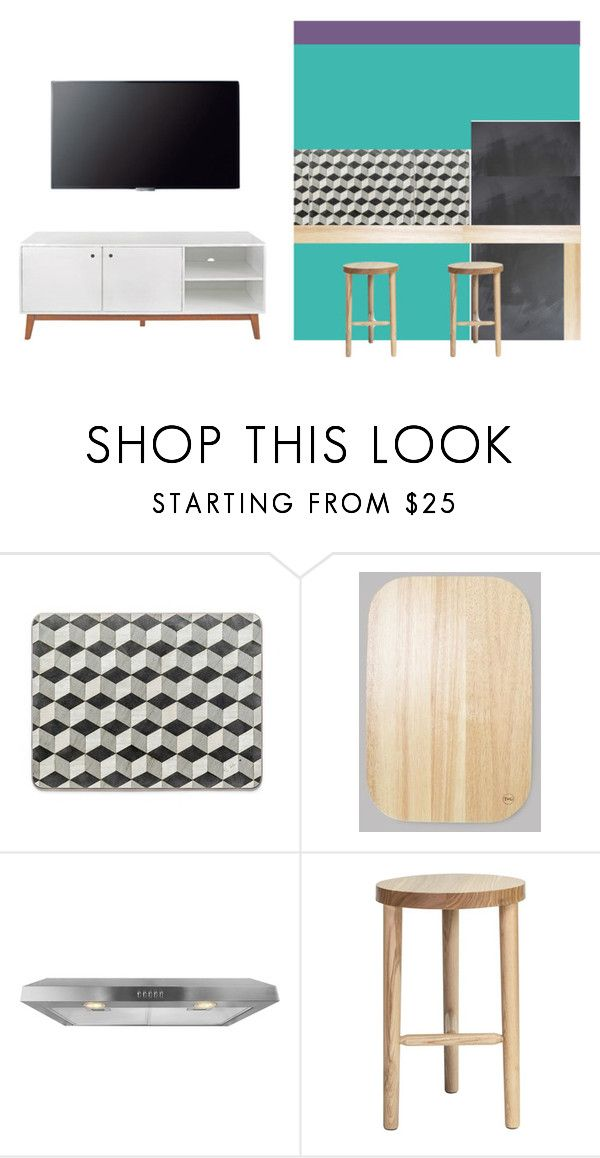 """sala e cozinha"" by anaunderground on Polyvore featuring interior, interiors, interior design, casa, home decor, interior decorating, AKDY, MASH Studios, Sony e Foremost"