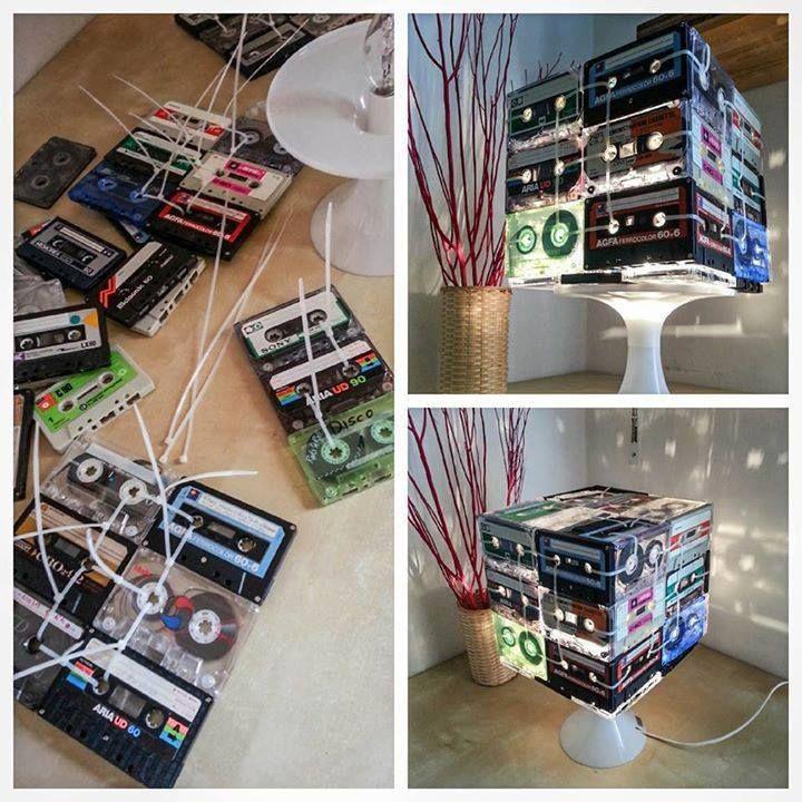#RicicloCreativo #Musicassette #EcoDesign #Illuminazione  SEGUICI SU: www.facebook.com/CreoEco