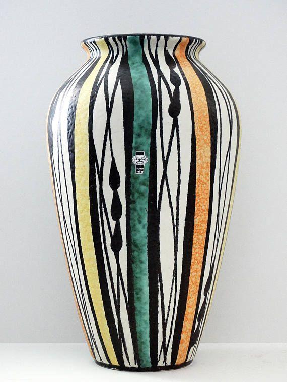 Jasba Mid Century XL White Black Green Yellow & Orange West