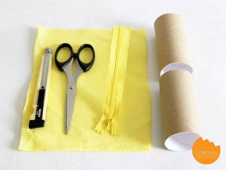 Bricolage Boîte à crayons de rouleau et de feutre | Onelmon