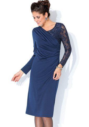 Šaty s nariasením a čipkou #Modinosk