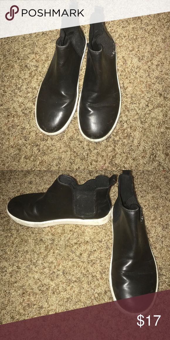 Black High Top Sneakers Worn a few times in good condition Shoes Sneakers
