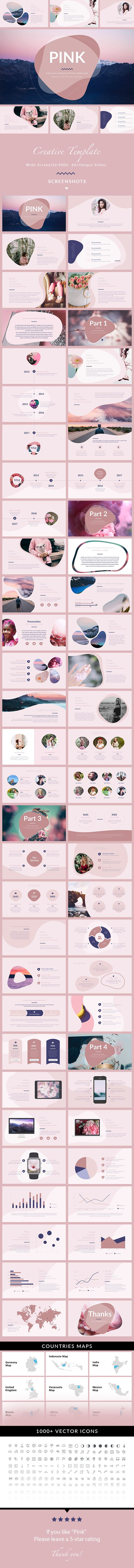 Pink - Minimal & Creative PowerPoint Template - Creative #PowerPoint Templates Download here: https://graphicriver.net/item/pink-minimal-creative-powerpoint-template/20321941?ref=alena994