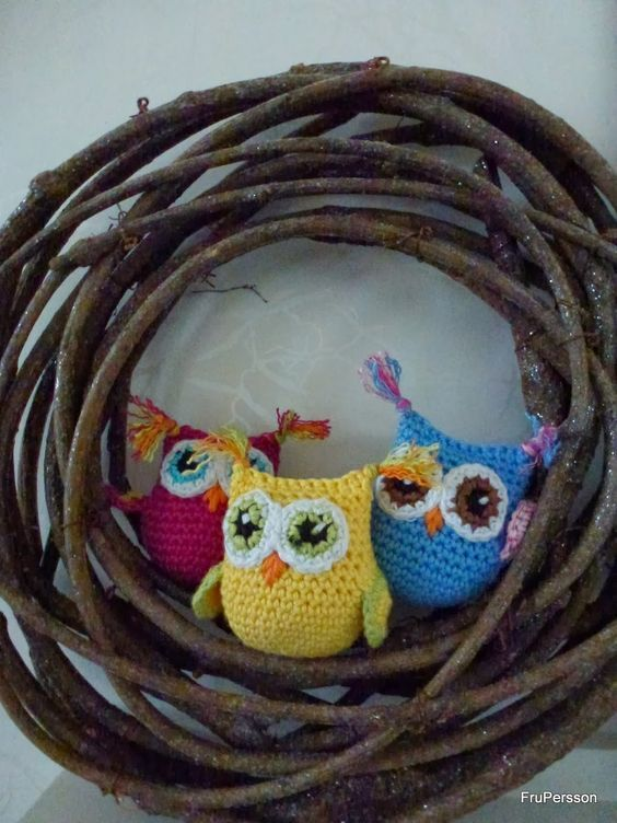 Crochet free owl pattern (swedish)