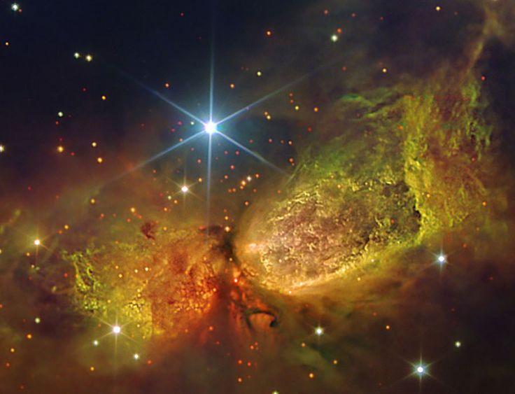 Situata nella costellazione del Cigno e nota agli esperti come Sharpless 106 Nebula (S106). E'  originata dal materiale emesso da una stella massiva nata circa 100 mila anni fa e denominata IRS4.Il gas di S106 vicino alla stella si comporta come una nebulosa a emissione ed emette luce dopo essere stato ionizzato. Le polveri lontane dall'astro riflettono invece la luce della stella centrale e si comportano come una nebulosa a riflessione.