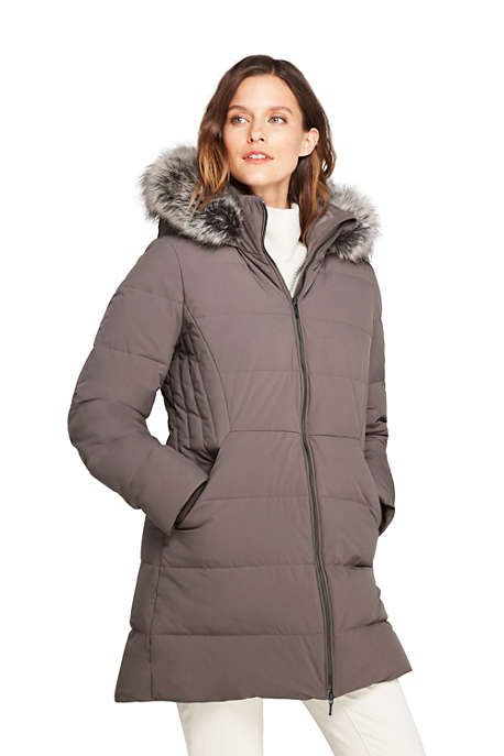 ff2bb400579d Women s Petite Stretch Long Down Coat