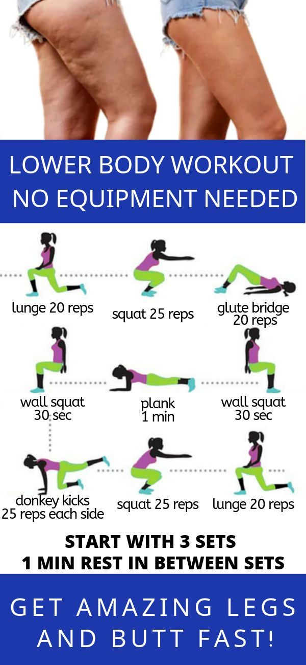 Lower body workout.  No equipment needed.