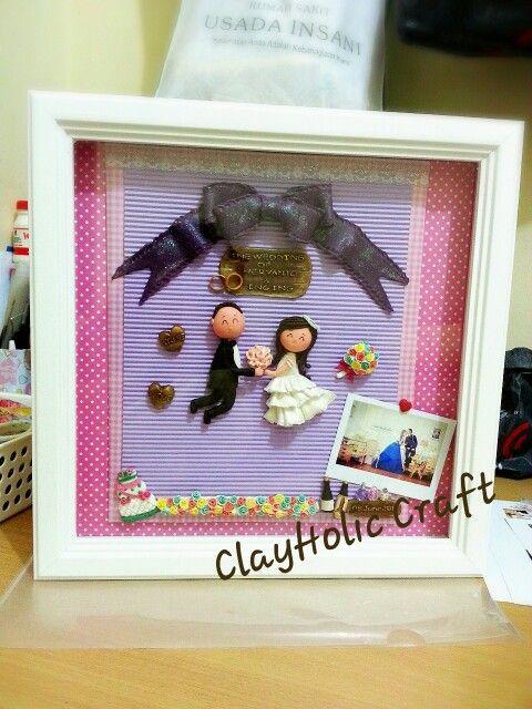 Wedding clay on frame 3d
