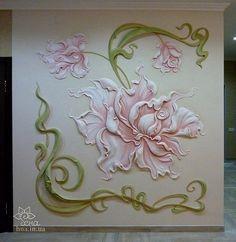bajorrelieve en las rosas sala de estar