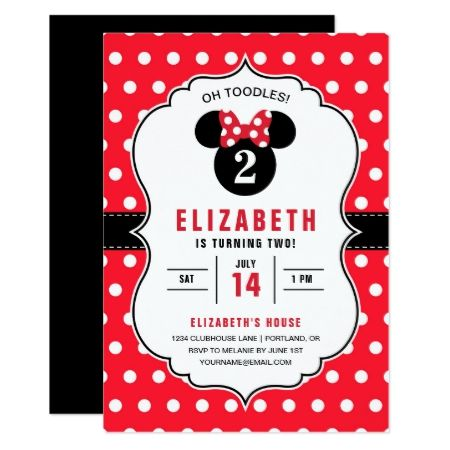 Minnie Mouse | Red & White Polka Dot Birthday Card - click to get yours right now!