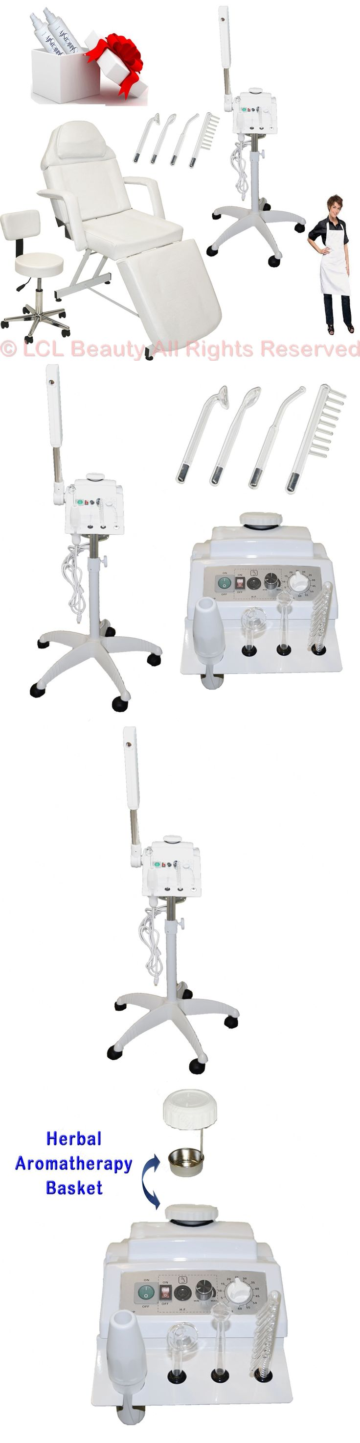 Professional Facial Machines: 2 In 1 Facial Steamer High Frequency Machine Adjustable Bed Salon Spa Equipment BUY IT NOW ONLY: $348.88