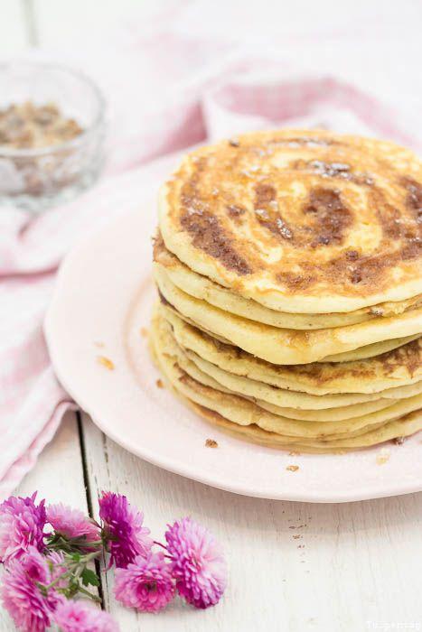 Zimtschnecken Pancakes Rezept Zimt Kandiszucker Zimtschnecken-Pancakes