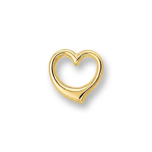 Gouden hart hanger - GH517