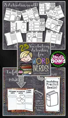 These vocabulary trifolds provide students with a structured format for quick, daily vocabulary practice with ANY word list. Students think critically and creatively as they analyze words and word meanings. The activities included are designed to encourage consistent review that takes approximately 10-20 minutes to complete, making this a great resource for daily use in centers and small groups, for early finishers, and as homework!