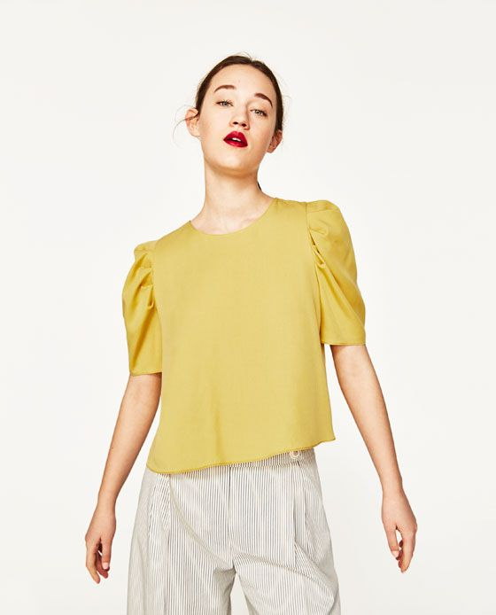 ZARA - WOMAN - TOP WITH FULL SLEEVES
