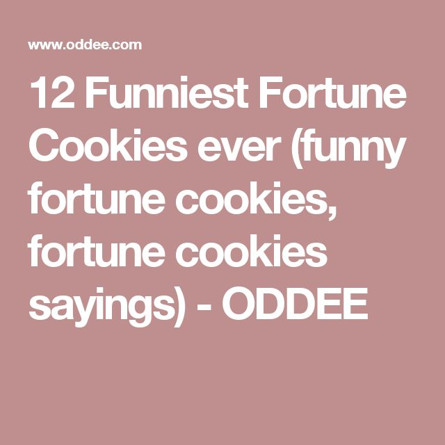 12 Funniest Fortune Cookies ever (funny fortune cookies, fortune cookies sayings) - ODDEE