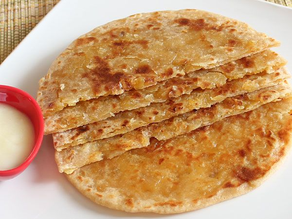 Puran Poli - Protein rich yellow dal (lentil) stuffed sweet  bread