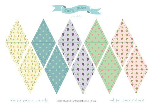 FREE mini bunting and other summer party printables {faltmanufaktur}