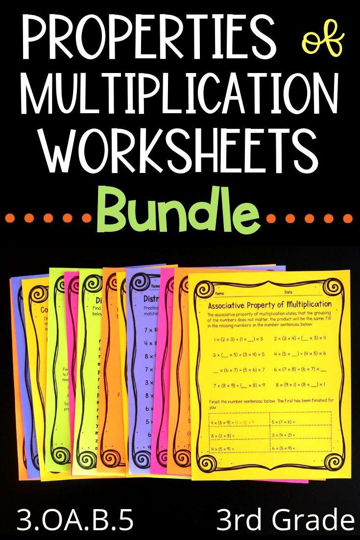 Snag This Properties Of Multiplication Worksheet Bundle For Your Third Grade Math Class Properties Of Multiplication Multiplication Worksheets Third Grade Math [ 1102 x 735 Pixel ]