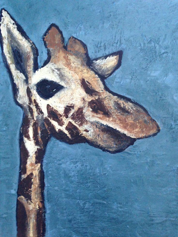 Taronga giraffe, Acrylic on canvas 2014. Ingrid Bowen Art
