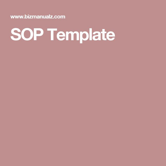 The 25+ best Standard operating procedure template ideas on - why sop is used