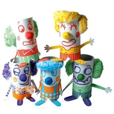 Chamboule tout Clown aux marqueurs Uni Posca