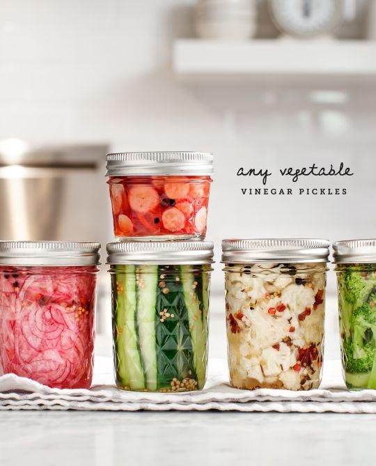 any vegetable vinegar pickles